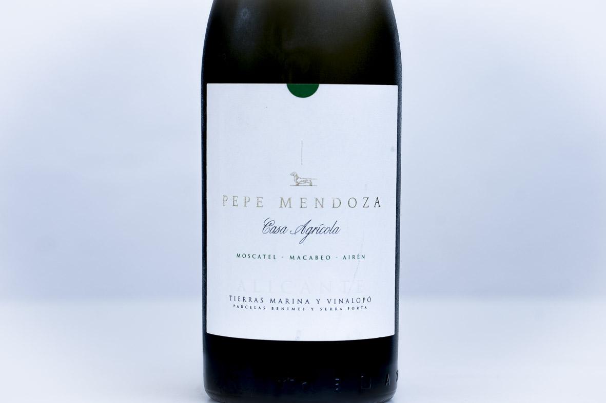 Vino blanco valenciano P.Mendoza. CASA AGRÍCOLA